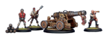 Mercenary Commodore Cannon & Crew (4)